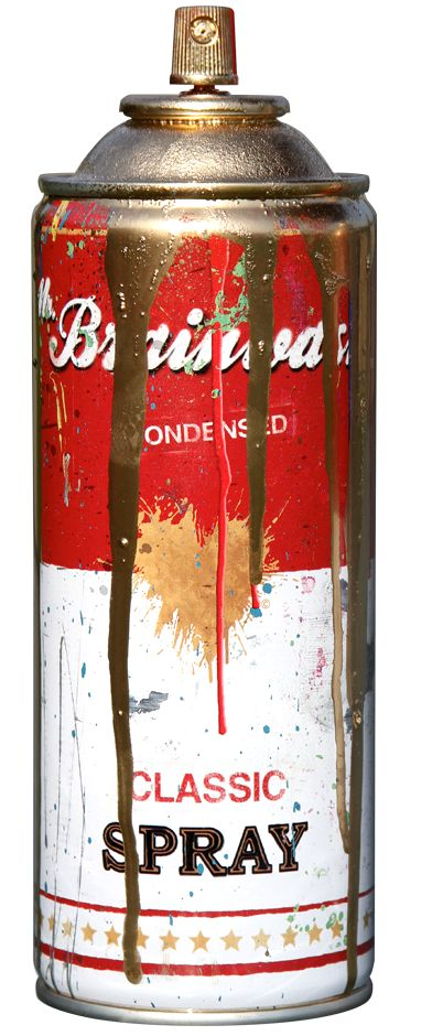 Spray Can - Gold by Mr. Brainwash (2013)