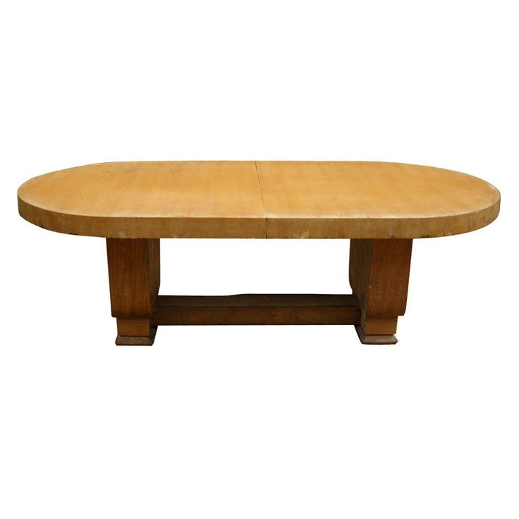 Large French Art Deco Cherry Table By Jean Pascaud