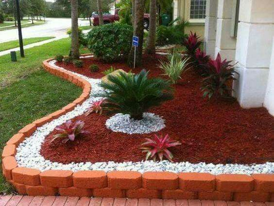 Mulching and landscaping