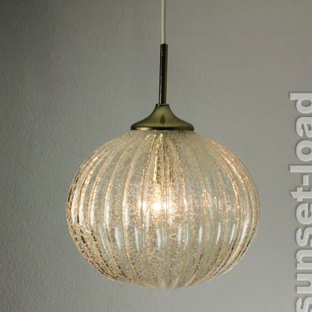 "Doria Big Bubble Ball Lamp Diam. 13.4"" Heavy Glass 60s 70s Kalmar Austrian Era"