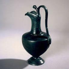 Jarra  de bronce de Lacipo. Imagen de la ficha informativa