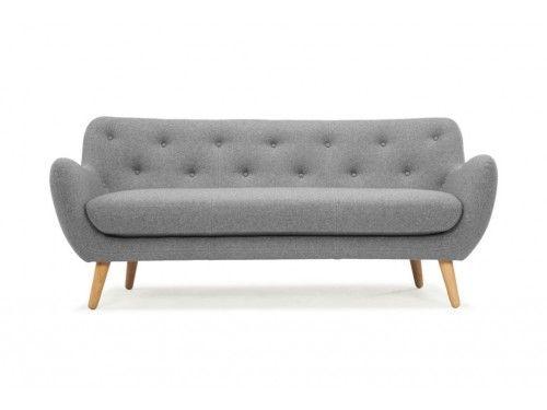 Herman, 3-seater sofa, Andie light grey