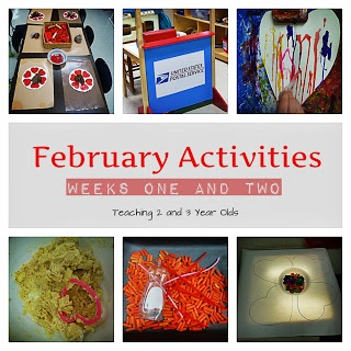 Teaching 2 and 3 Year Olds: February preschool activities!