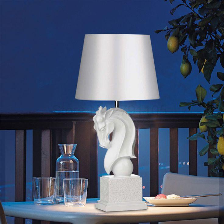 Современная Nordic Light Творческий Голова Лошади Настольная Лампа, мода Спальня Тумбочка Лампа Отель гостиной Художественного Настольные Лампы купить на AliExpress