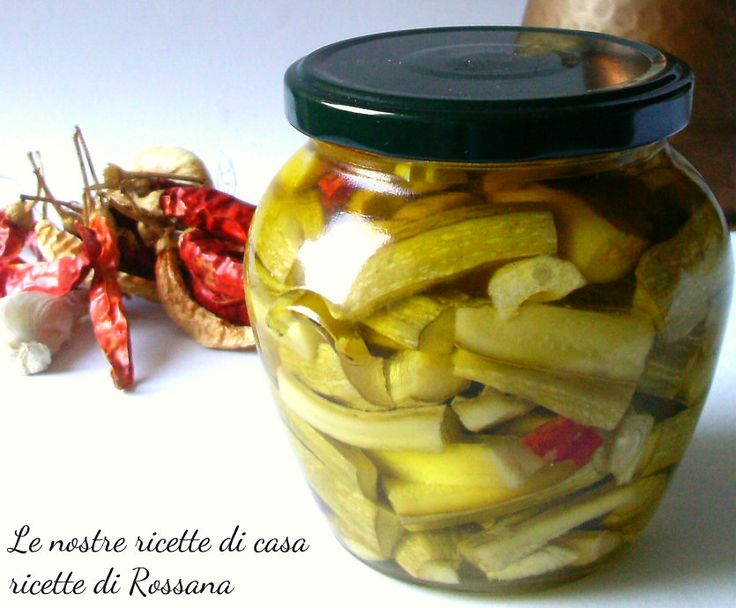Zucchine sott'olio, ricetta conserva