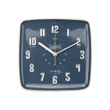 Lubbock Wall Clock ネイビーブルー