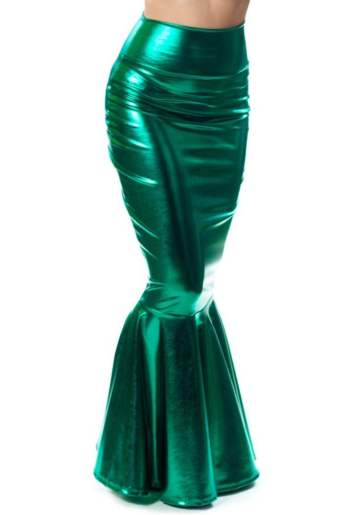 sidecca faux leather look metallic mermaid