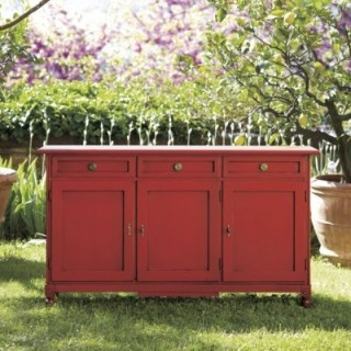 red sideboard: Dining Rooms, Consoles, Living Rooms, Buffet, Idea, Antoinette Sideboard, Colors, Ballard Designs, Furniture