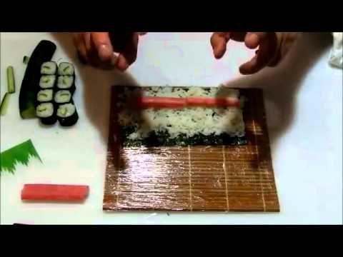 Como fazer hossomaki de kani - Curso Sushi Online