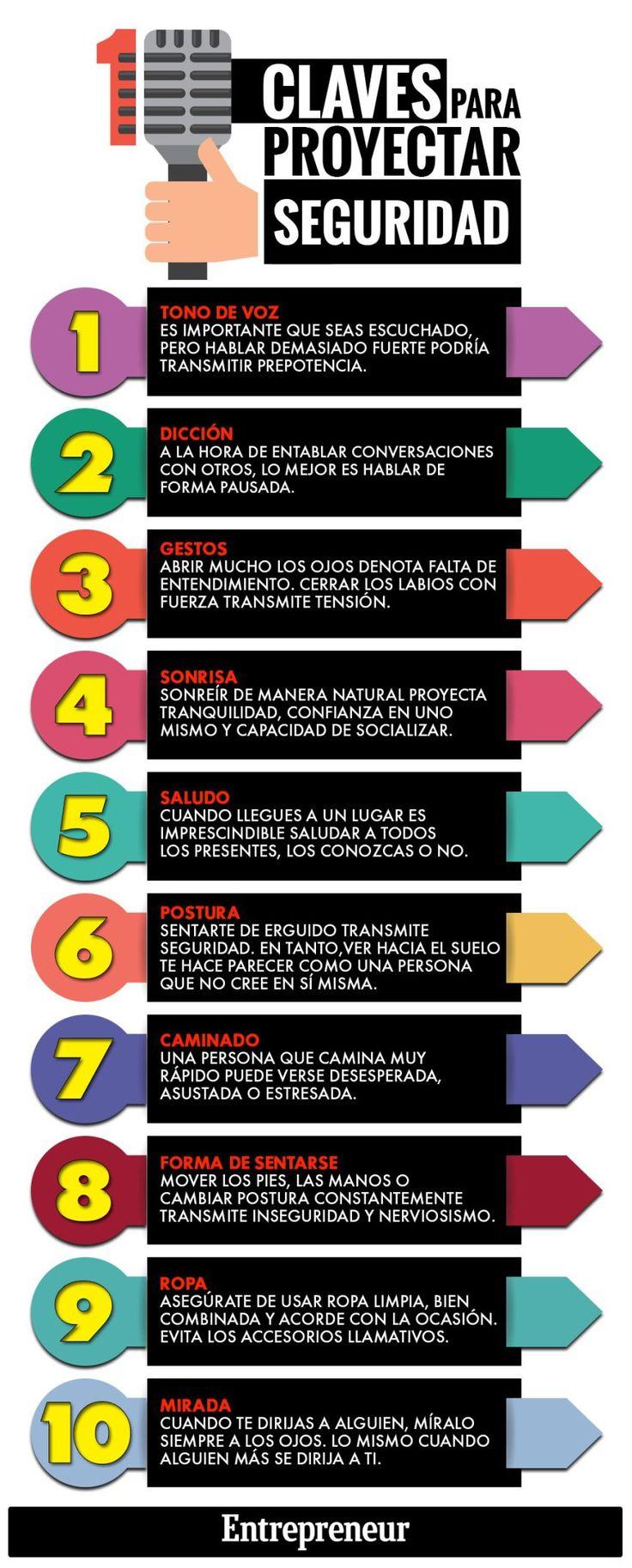 10 claves para proyectar seguridad #infografia