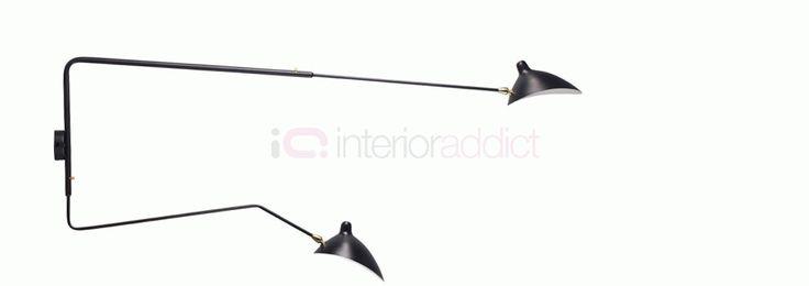 Serge Mouille Modern Vägglampa i MSC-R1C-stil | Interior Addict