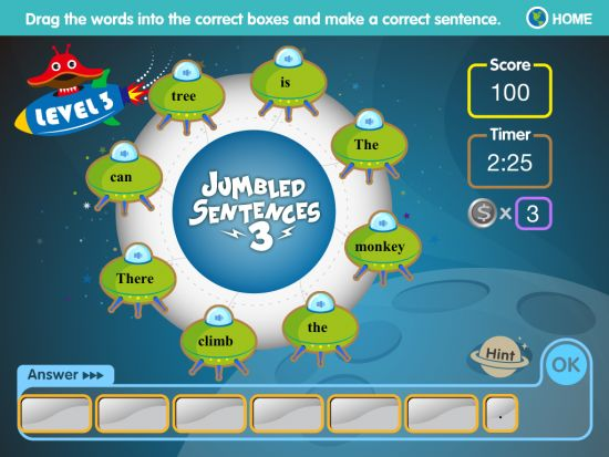 Jumbled Sentences - A Series of Free Writing Apps for iPads