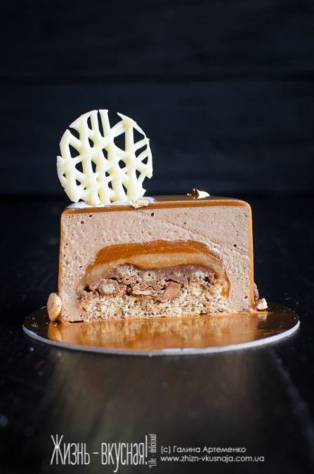 муссовый торт рецепт, евроторт с зеркальной глазурью рецепт, как приготовить муссовый торт, торт с зеркальной глазурью фундук карамель абрикос