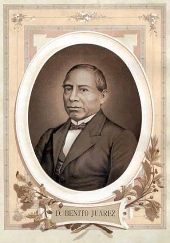 """President Benito Juarez. """"Entre los individuos como entre las naciones, el respeto al derecho ajeno es la paz""""."""
