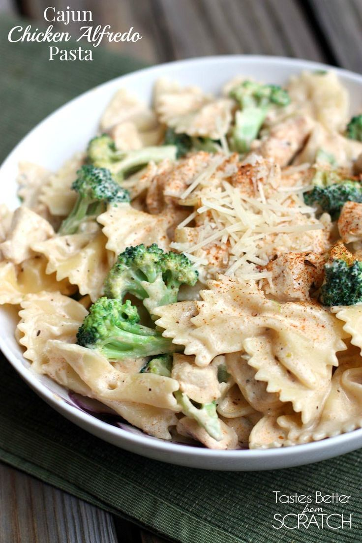 Cajun Chicken Alfredo Pasta recipe on TastesBetterFromScratch makes the easiest 30-minute-meal!