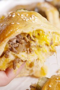 Cheeseburger Crescent Ring - both Ron and Andrea say this is a keeper!