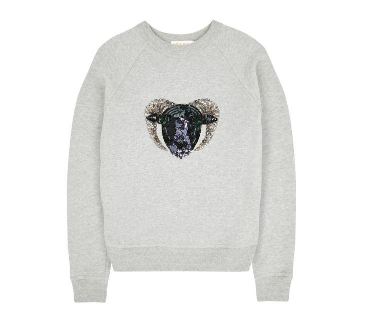 Uzma Bozai - Capricorn Sweatshirt - Grey Marl  PRE ORDER