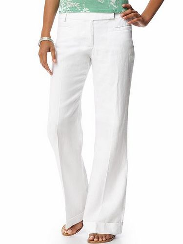 How to Match Clothes With White Pants via www.wikiHow.com
