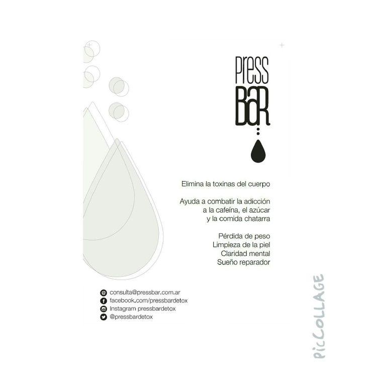 Press-bar  detox Jugos naturales prensados en frío desintoxicantes.