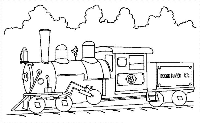 29 Best Images About Trains Coloring Pages