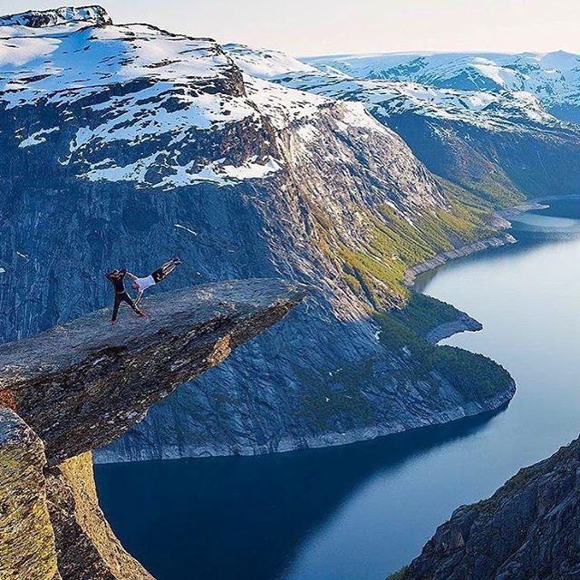 HH Ambassador @ matsgrimseth gets crazy on troll tunga!  Norway is beautiful.