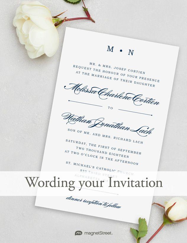 17 Best ideas about Wedding Invitation Wording on Pinterest ...