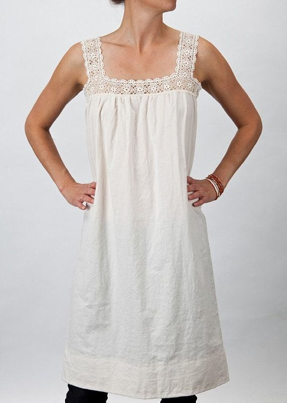 Handmade Dress with 100 muslin and 1920's by NoraStrattonDesigns, $85.00