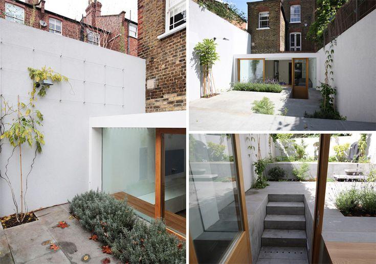 courtyard garden integrated with sunken basement