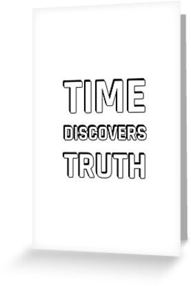 'Stoic Quotes – Time Discovers Truth – Seneca' Greeting Card by IdeasForArtists – + Greeting Cards & Postcards – love, gratitude, inspiration, motivation