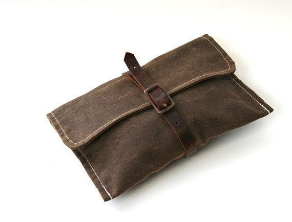 Waxed Canvas Carry Around Bike Tool Bag Wrap on Etsy, Sold