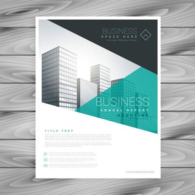 layout de brochura de apresentação modelo de panfleto Vetor grátis