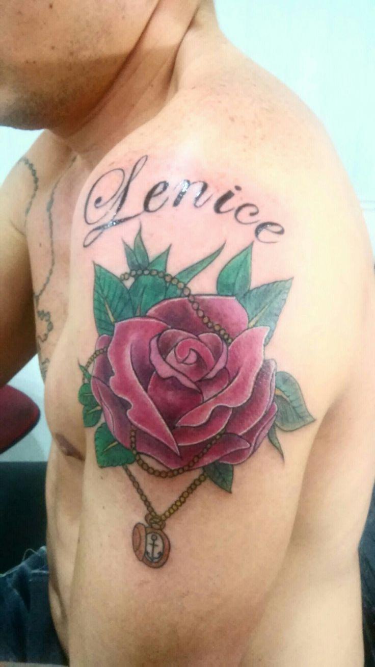 Tattoo Rosa com nome