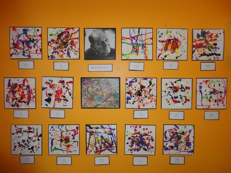 jackson pollock for preschoolers   Pollock Inspired Art @ New Horizons Preschool                                                                                                                                                                                 More