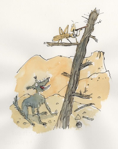 The coyote and the grasshopper by Quentin Blake