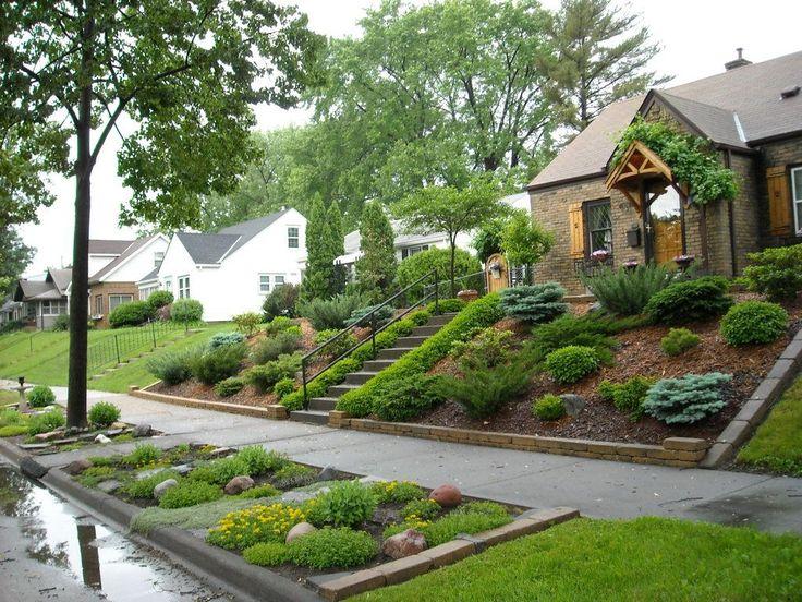 Best 25 Sloped Front Yard Ideas On Pinterest Garden Stairs