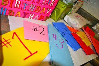 creative husband birthday idea...make a scavenger hunt of all the birthday plans!