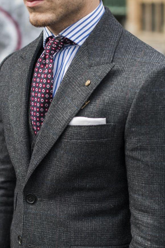 air max air Prince de Galles  Gris  Cravate  Chemise  Couleurs
