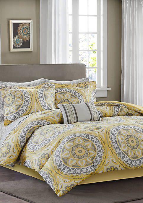 Madison Park Essentials Serenity Complete Comforter Set Yellow