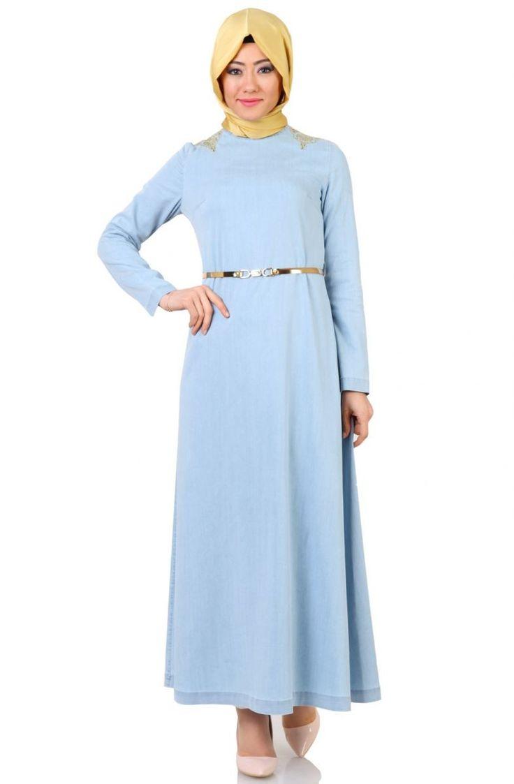 Tesetür Giyim Markalarının Güvenilir Alışveriş Sitesi #tesetturmoda #tesetturstil #fashion #instagood #fashionlovers #dress #instalike #tesetturelbise #hijabstyle #hijab #tesetturask #tesetturgiyim #hijabfashion #kina #dügün #bayan #stylehijab #sal #nişanlik #tasarim #buyukbeden #tesetturnisanlik #abaya #tesettürelbise #tesettürgiyim #ucuztesettur #kapidaodeme #tesettür #indirim #yenisezon #tunik  Nihan Nakışlı Kot Tencel Elbise S4071 Açık Mavi -   89.90tl…