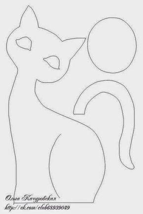 Moldes e Modelos de Gatos Fofos para Costurar em Feltro
