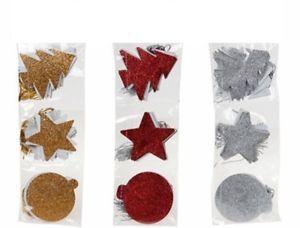 a etiqueta de navidad etiquetas de regalo de navidad glittter red estrella de oro plata arbol adorno presentes