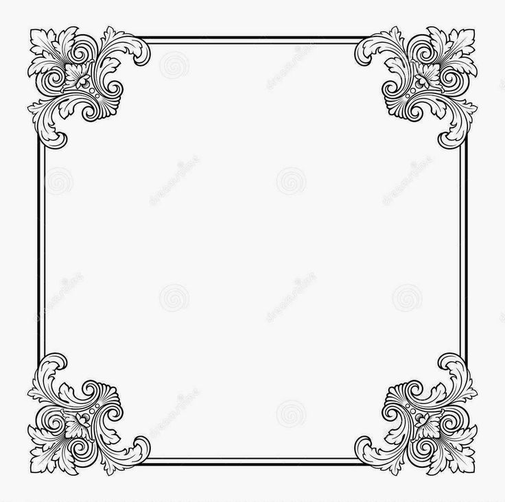 Vector calligraphic ornate vintage frame border