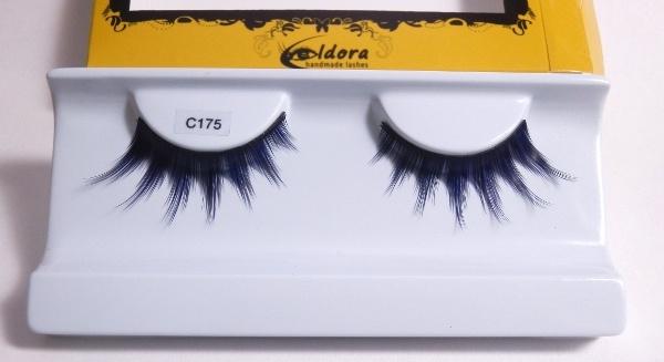Ciglia finte blu scuro effetto sexy con estremità più lunghe C175 Eldora lashes