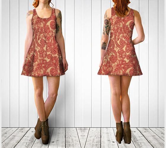 Floral Loop Flare Dress