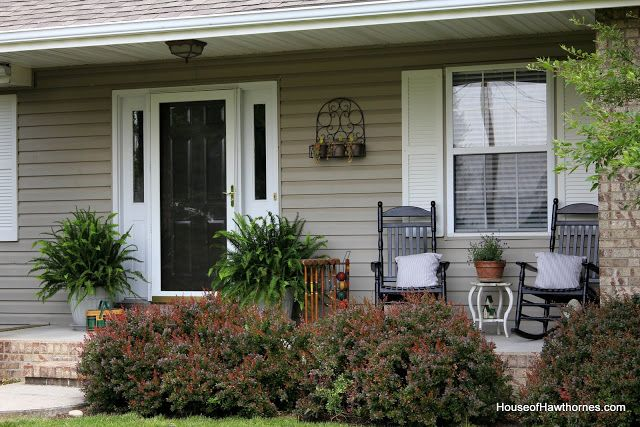 Summer Front Porch- curb appeal! Kimberly Queen Ferns, must get