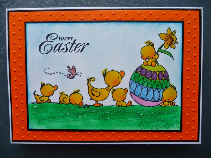 Easter card with Lili Of the Valley Easter Sweeties stamp #LOTV