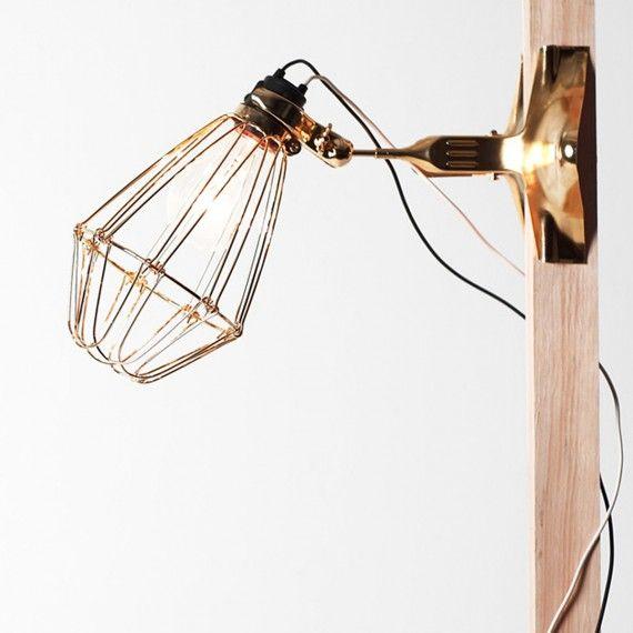 Lampe baladeuse à pincer, Lampe Structure en acier, câble en caoutchouc, pas de visse de la douille en cuivre - MERCI