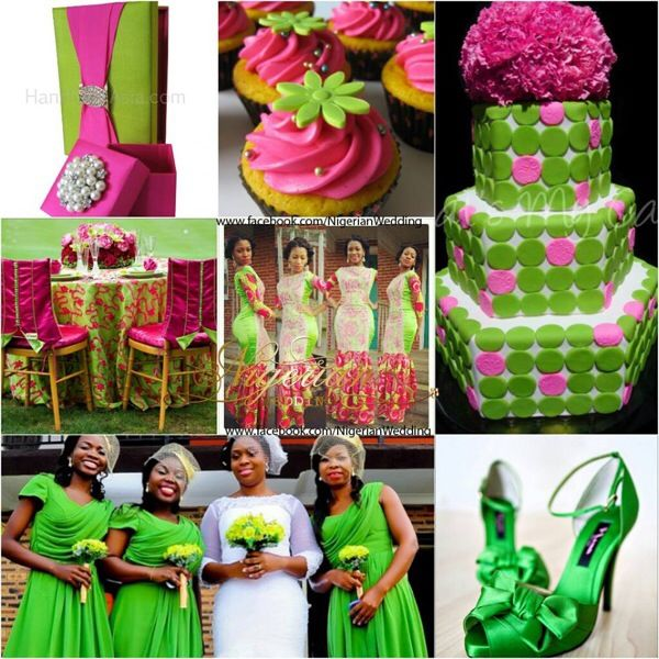 Colour Crush Emerald Green With Pink: 17 Best Images About Nigerian Wedding Color Schemes