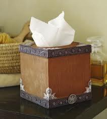 Western tissue box cover (Puffs)