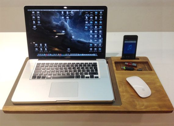 This seems perfect. laptop desk just like this with space for a mouse
